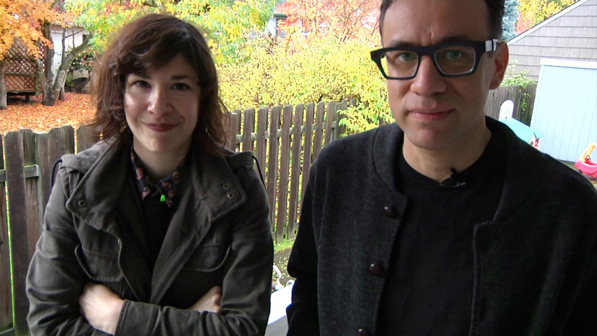 Image of Portlandia's Carrie Brownstein and Fred Armisen