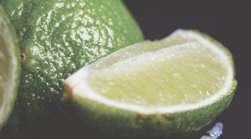 close-up of a juicy lime