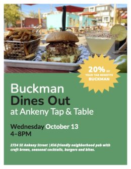 October Dines Out - Ankeny Tap and Table