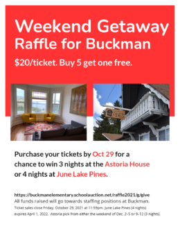 Flyer fall raffle for Buckman